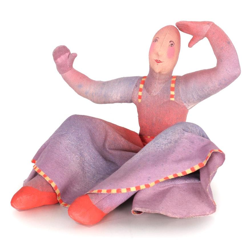 "Lenore Davis Soft Sculpture Cloth Doll ""Female Dancer,"" 1984"
