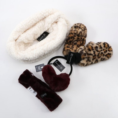 Calvin Klein and INC International Concepts Faux Fur Winter Accessories