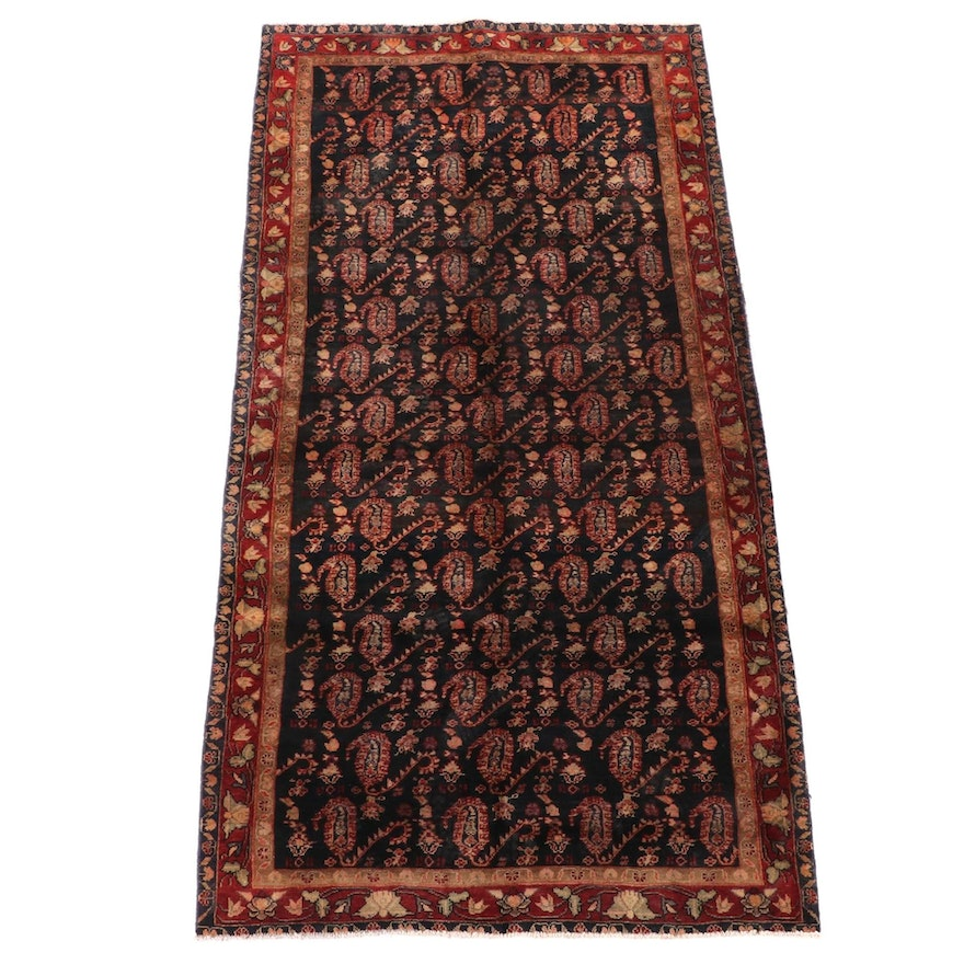 4'11 x 9'10 Hand-Knotted Persian Khorassan Wool Rug