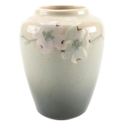 Ceramic Cherry Blossom Motif Vase