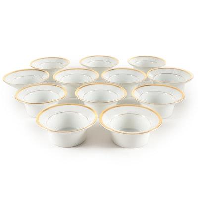 """Rudolstadt Straus & Söhne Schwarzburg """"Midas"""" Porcelain Custard Cups,"""