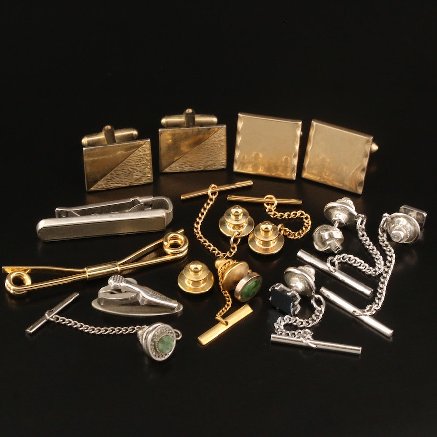 Tie Tacks, Tie Clips and Cufflinks Including Swank