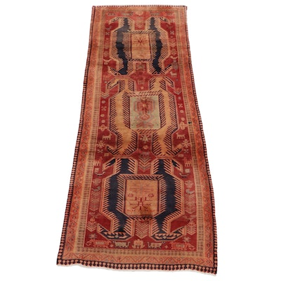 3'6 x 9'3 Hand-Knotted Persian Hamadan Rug