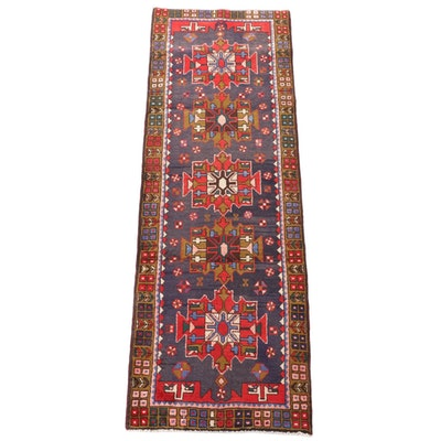 3'2 x 9'8 Hand-Knotted Caucasian Wool Carpet Runner