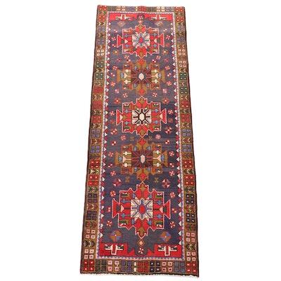 3'2 x 9'8 Hand-Knotted Caucasian Wool Carpet Runner