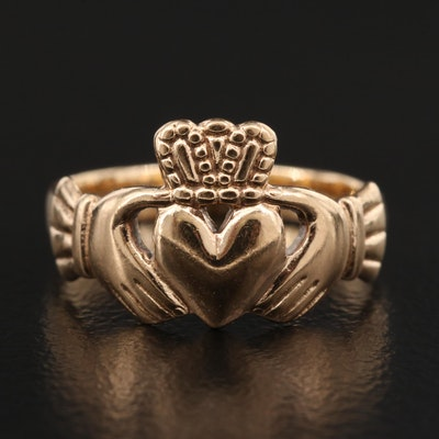 Irish 9K Claddagh Ring