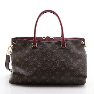 Louis Vuitton Pallas Monogram Canvas Tote Shoulder Bag