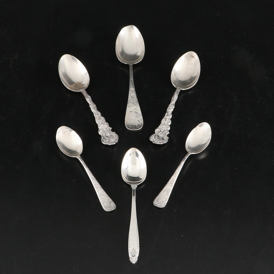 "Gorham ""Versailles"" and Other Sterling Silver Spoons, Late 19th and 20th C."
