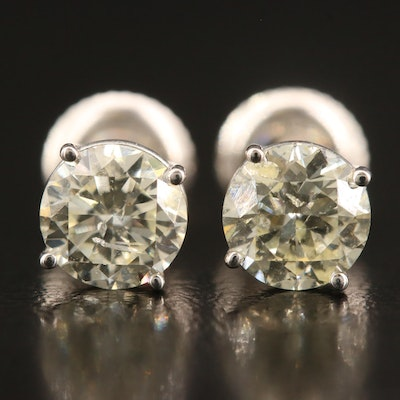 18K 1.83 CTW Diamond Stud Earrings