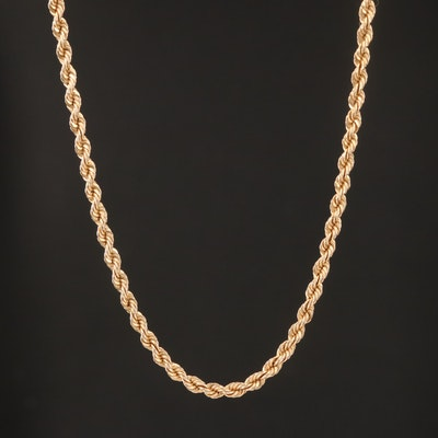 14K Rope Link Chain