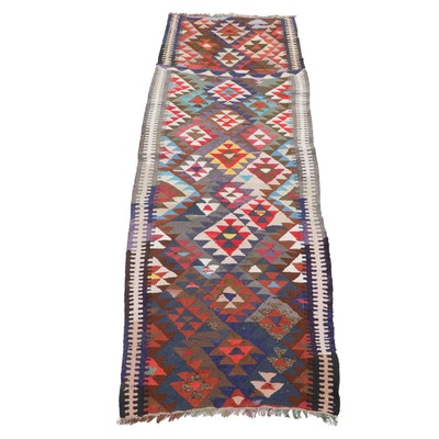 3'4 x 10'5 Handwoven Persian Kilim Carpet Runner