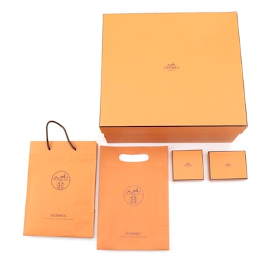 Hermès Gift Boxes, Shopping Bags, and Retail Packaging