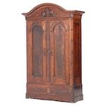 Victorian Walnut Wardrobe, Mid to Late 19th Century