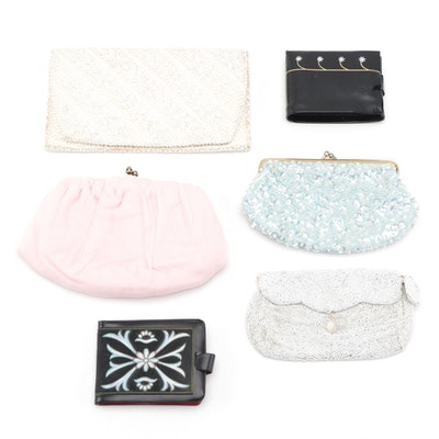 Harry Levine and Other Embellished and Chiffon Clutches with Floral Wallets