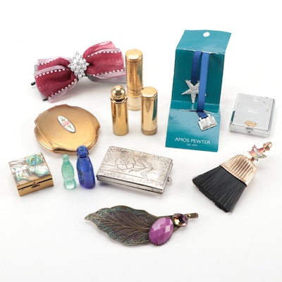 Bourjois and Elgin American Powder Compacts and Other Vanity Accessories