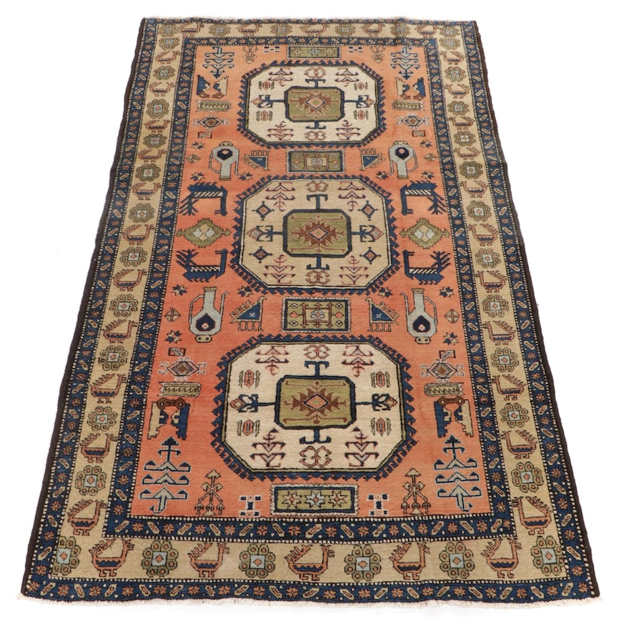 5'6 x 9'4 Hand-Knotted Tribal Pictorial Wool Rug