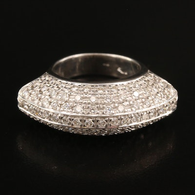 18K 2.01 CTW Diamond Saddle Ring