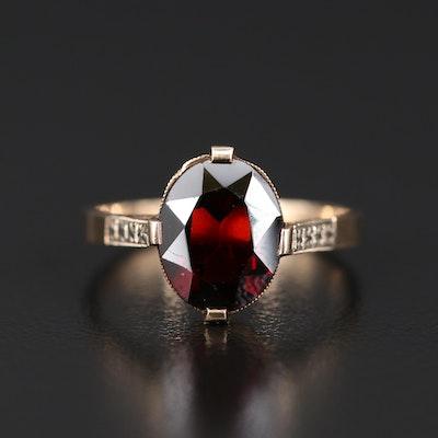 Vintage 10K Garnet Ring