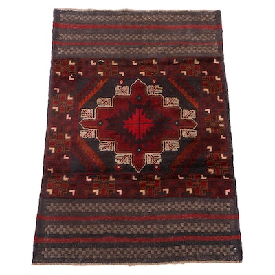 2'10 x 4'3 Handwoven and Knotted Afghani Tribal Balouch Wool Rug
