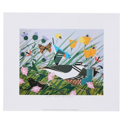 "Offset Lithograph after Charley Harper ""Once There Was a Field,"" 2018"