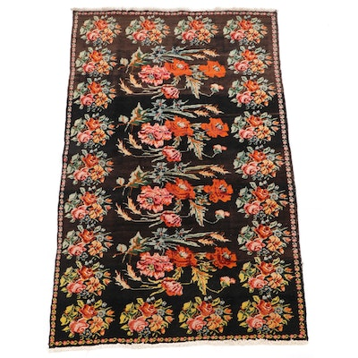 4'2 x 7'5 Hand-Knotted Armenian Floral Wool Rug
