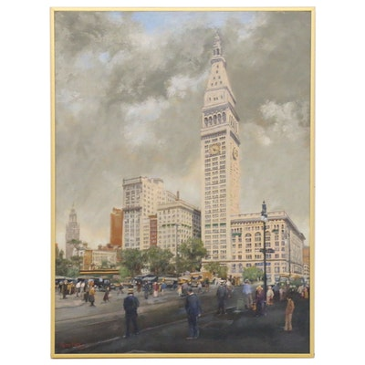 Fritz Keck Oil Painting of Madison Square