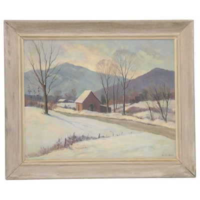 Alice Weed Winter Landscape Oil Painting