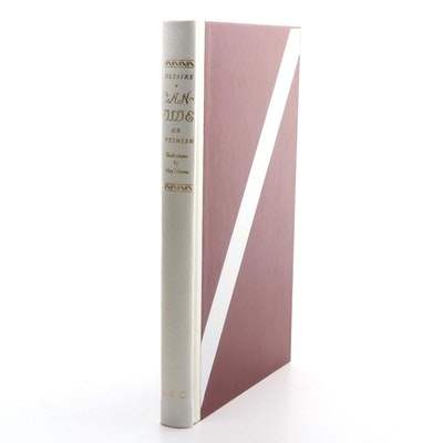 """May Néama Signed Limited Editions Club """"Candide"""" by Voltaire, 1973"""