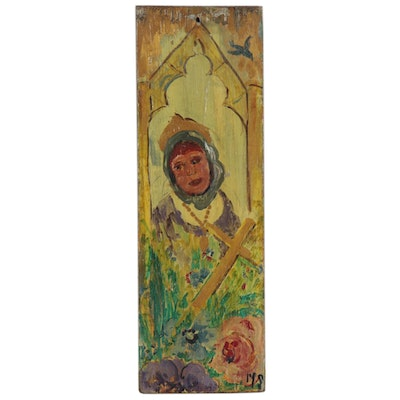 Oil Painting with Dedication to St. Prosper of Aquitaine, 1944