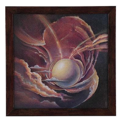 Michael Divine Mystic Oil Painting, 21st Century