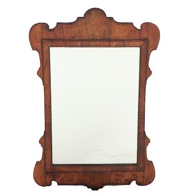 George II Walnut Mirror, Mid-18th Century