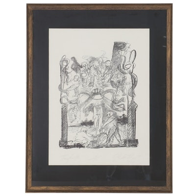 "Figural Lithograph ""Transform Alien,"" 1970"