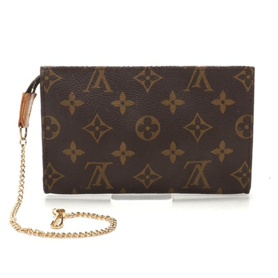 Louis Vuitton Bucket Pouch PM in Monogram Canvas with Chain