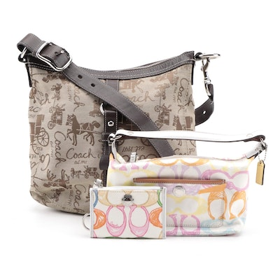 Coach Horse and Carriage Shoulder Bag with Pastel Signature Wallet and More