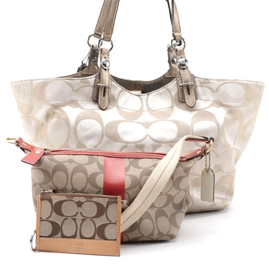Coach Signature Shoulder Bag, Accessories Bag and Wallet