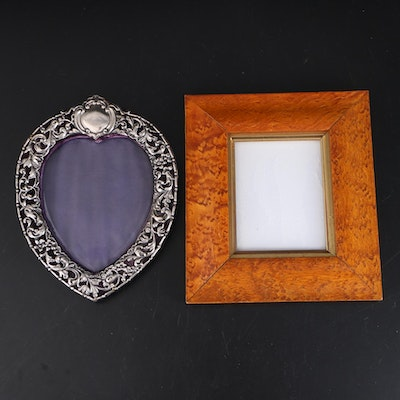 Early 20th Century Heart Shaped and Wormwood Picture Frames