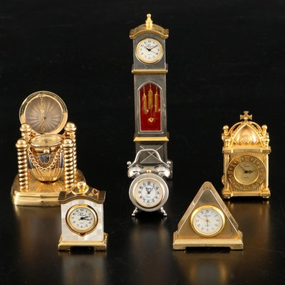 Chass and Other Miniature Table Clocks, Late 20th Century