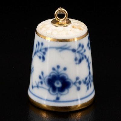 Bing & Grondahl Porcelain Thimble Ornament, 1980s