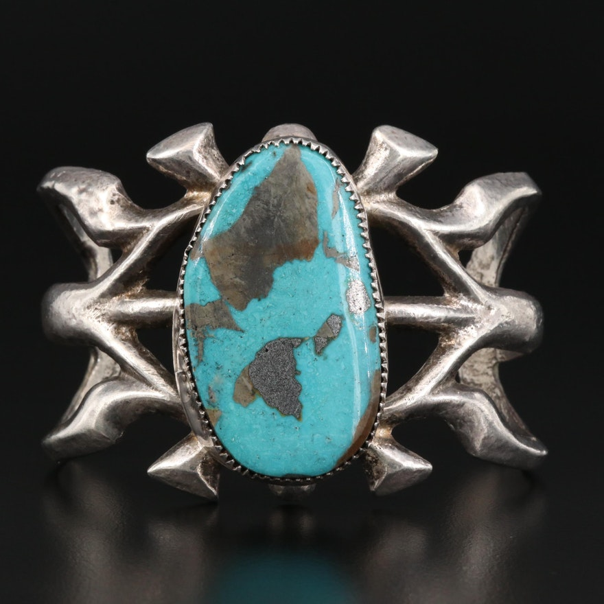 Sterling Silver Turquoise Cuff