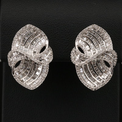 18K 2.75 CTW Diamond Earrings