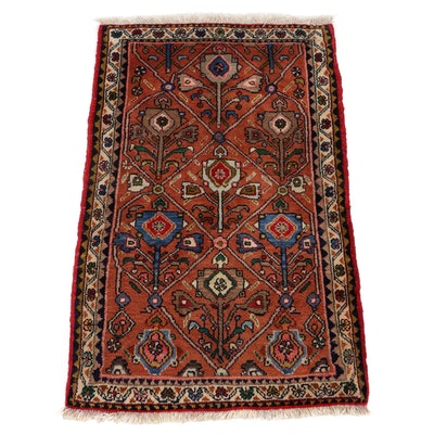 2'1 x 3'5 Hand-Knotted Persian Malayer Accent Rug, 1970s