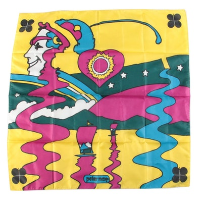 Peter Max Colorful Mixed Motif Scarf