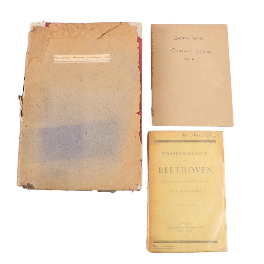 "Gabriel Fauré and Strauss Music Books, and ""Correspondence of Beethoven"""