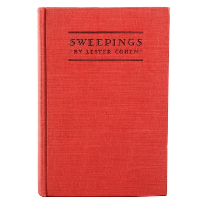 "Signed Eleventh Printing ""Sweepings"" by Lester Cohen, 1928"