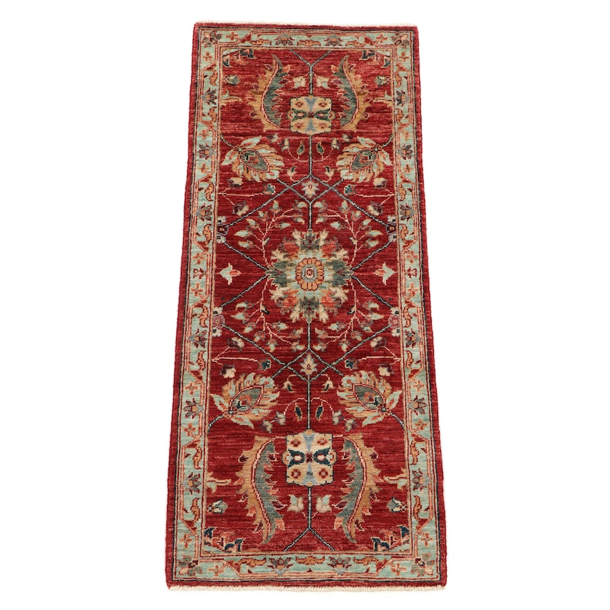 2' x 4'11 Hand-Knotted Afghan Persian Tabriz Carpet Runner, 2010s