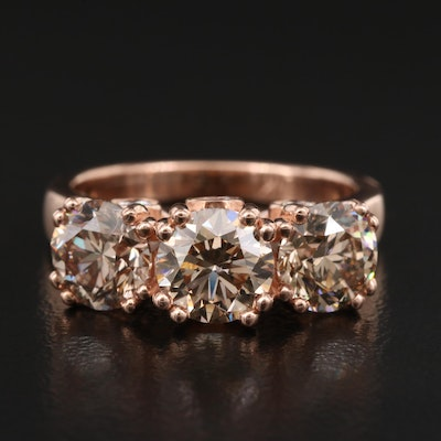14K Rose Gold 3.43 CTW Diamond Ring