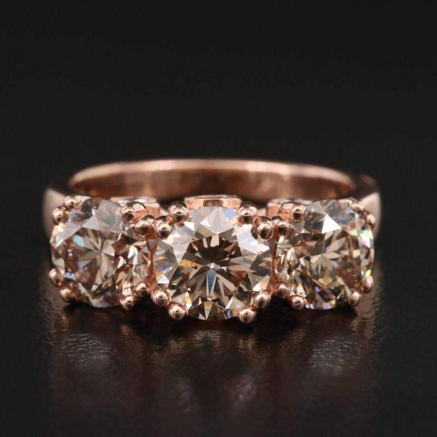14K Rose Gold 3.43 CTW Diamond Ring