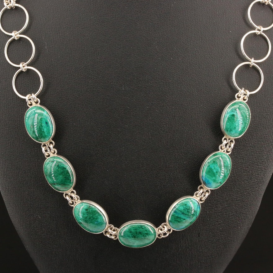 Sterling Silver Eilat Link Necklace