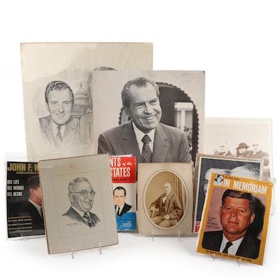 Truman, JFK, Nixon, U.S. Political Campaign Ephemera and Posters, 20th C.