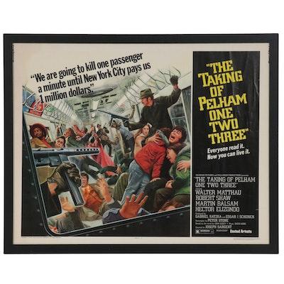 """The Taking of Pelham One Two Three,"" Half Sheet Movie Poster, 1974"
